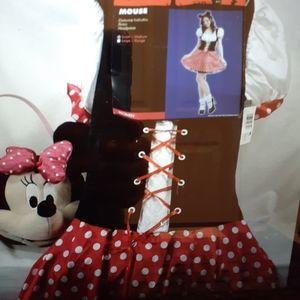 Minnie Mouse Halloween costume dress plus basket